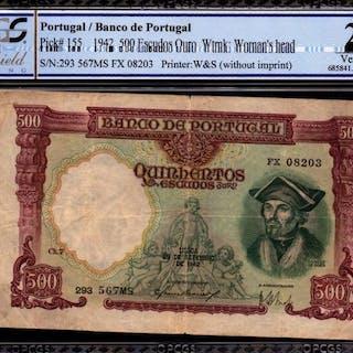 Portugal - 500 Escudo 1942 - Pick 155