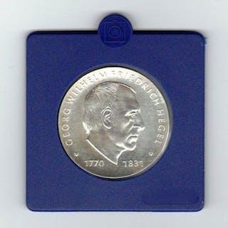 DDR - 10 Mark1981 150. Todestag von Georg Wilhelm Friedrich Hegel - Silber, 800