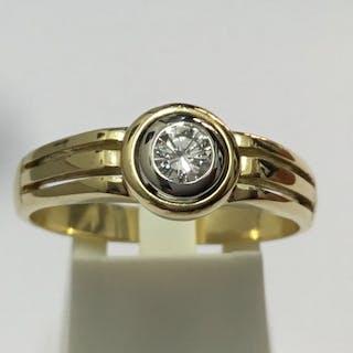 Damiani - 18 kt. Yellow gold - Ring - Diamond, 00:23
