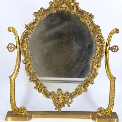 Specchio veneziano in bronzo dorato, 1930s