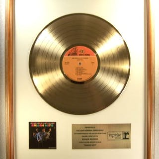 "Jimi Hendrix Experience - ""Smash Hits"" LP Gold Record..."