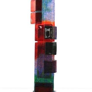 Maxence Parot  - Rilievo unico di scultura a vela di 38 cm - Vetro