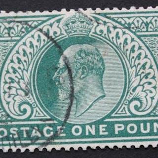 Großbritannien 1902 - £1 green - Stanley Gibbons 266