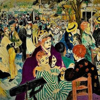 Êcole Art Brut [Gogo] - Bal du Moulin de la Galette (D'Après Renoir)