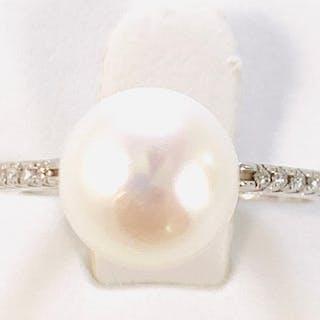 18 carati Oro bianco - Anello - Diamante