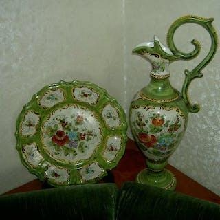 Deruta - Piatto, Vaso (2) - Ceramica