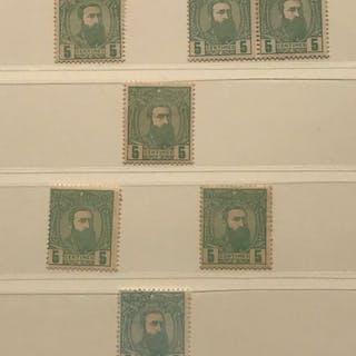 Belgisch-Kongo 1887 - Leopold II in profiel naar rechts...