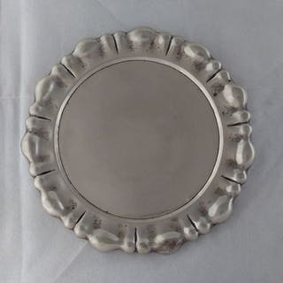 Tray - .800 silver - K. M. H. - Pest- Austro Hungarian Empire- Late 19th century