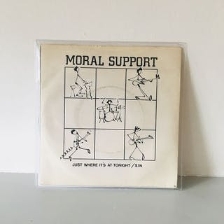 Moral Support - Just Where It's At Tonight/ Sin - 7″-Single - 1979