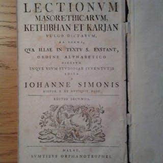 Johann Simonis- Analysis et Explicatio Lectionum Masorethicarum