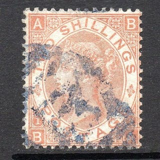 Großbritannien 1880 - QV 2/- Brown Plate 1 - Stanley Gibbons 121