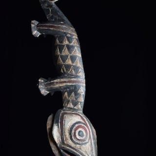 Maschera - Legno - Nunuma Chameleon - Gurunsi - Burkina Faso
