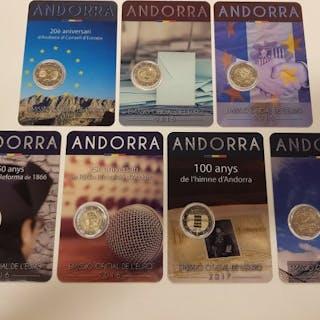 Andorra - 2 Euro 2014-2017 (7 coins)