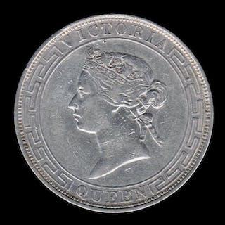 Hong Kong - 1 Dollar 1866 - Queen Victoria - Silver