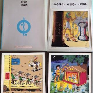 Morris, Peyo et Roba - Hommage à Hergé et Les Cigares du...