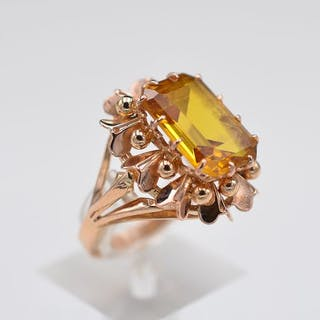 18 kt. Yellow gold - Ring - 2.25 ct Citrine