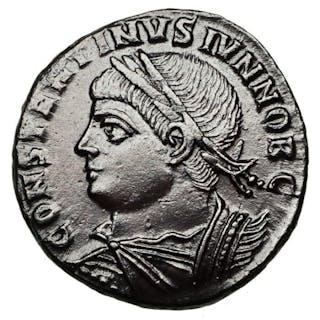 Impero romano - AE Follis,  Constantinus II. (Caesar, 324-337) Rom, Lagertor