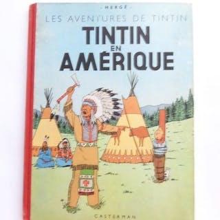 Tintin T3 - Tintin en Amérique (B4) - C - Neuauflage - (1950)