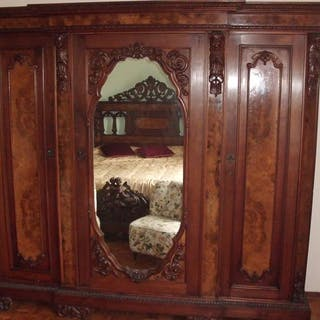 Furniture for double bedroom (1) - Wood - Late 19th century