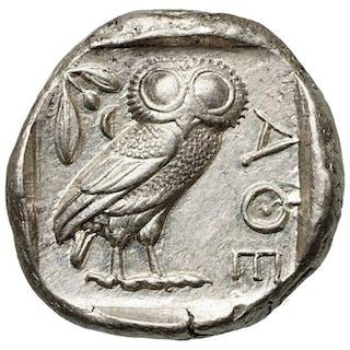 Grecia (antica) - Attica, Athen. AR Tetradrachme,  454-404 BCE - Eule, Top!