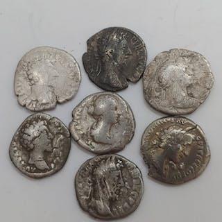 Impero romano - Lot comprising 7 Denarii