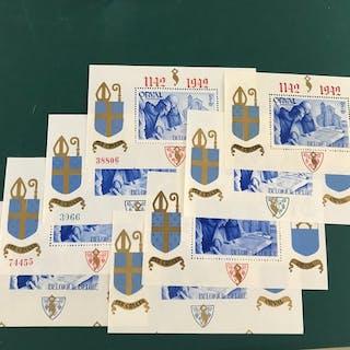 Belgien 1942 - Small orval blocks - OBP / COB Blok 18/21 en 18A/21A