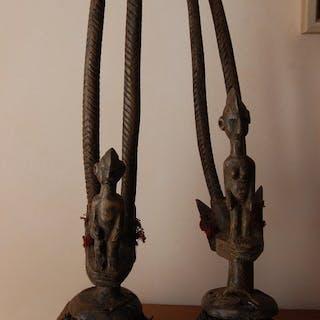 Dance mask (2) - Wood - Bambara - Mali