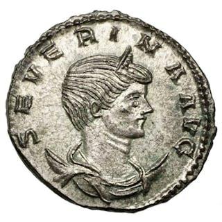 Impero romano - AE Antoninian, Severina (270-275) Antiochia, Fides Militum, Top!
