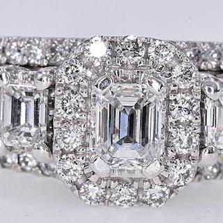 Oro blanco - Anillo - 1.54 ct Diamante