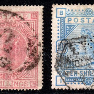 Großbritannien 1867 - Queen Victoria set - Stanley Gibbons 127, pl.1, 183a