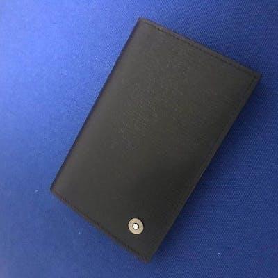 Montblanc Westside Black Leather Business Card Holder
