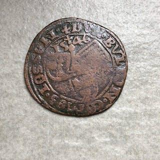 Pays-Bas espagnols - Liege - Brûlé de 4 sols  1546