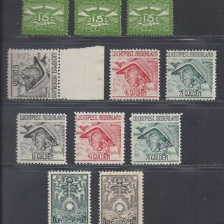 Niederlande 1921/1931 - Selection of airmail and safe stamps