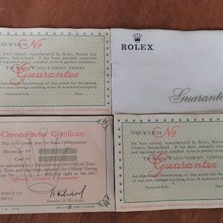 Rolex - 4 x GUARANTEE- ENGLISCH- Men - 60 / 70 ties
