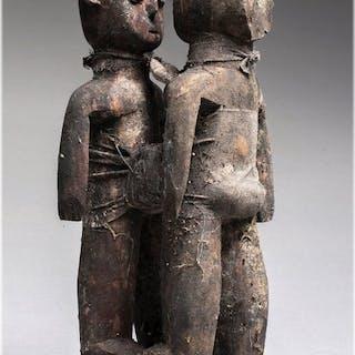 Double Fétiche d'autel Vaudou Ewé - Bois - Togo