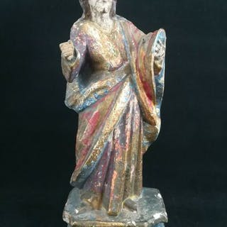 Christ in carved and polychrome wood