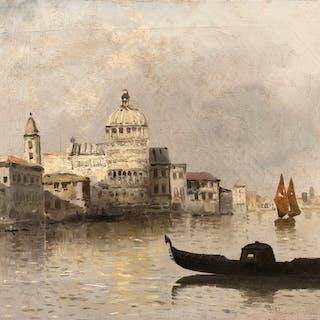 Martín Rico y Ortega (1833-1908) - Amanecer en Venecia