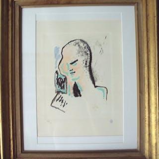 Jean Cocteau (d'après) - Portrait en Couleur