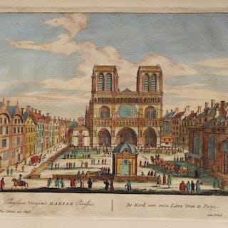 Frankreich, Parijs; P. Schenk - Templum Virginis Mariae Parisiis - 1701-1720