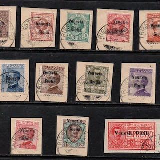 Italien - Julian Venetia 1918/1919 - Regular mail set and...