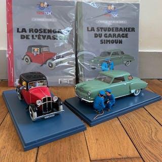Tintin - 2x Voiture 1:24 - La voiture de Rosengart+ La...