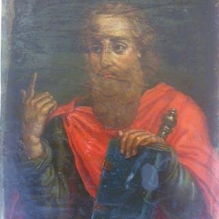 """Saint John"" - oil on copper - Late 17th century"