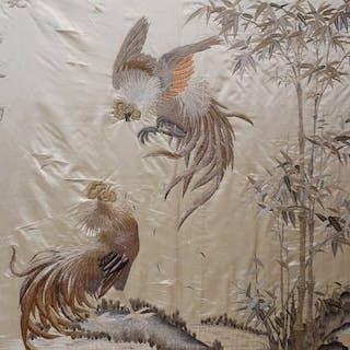 Un ricamo cinese - Seta - cazzi vaganti - Cina - sconosciuto