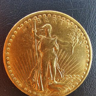 United States - 20 Dollars 1922 Saint Gaudens - Gold