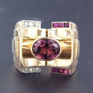 18k rose goud en 950Pt platina Pink gold