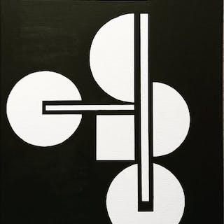 Audrey Granjeaud - Zeitgenössische geometrische abstrakte Malerei