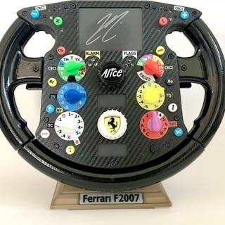 Ferrari - Formula Uno - F2007 steering wheel (signed)...