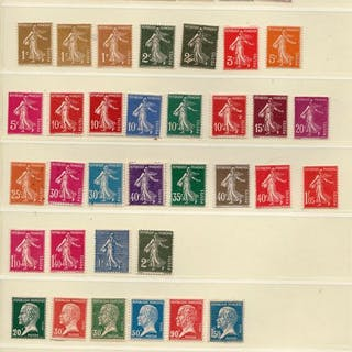 Frankreich 1893/1960 - 104 tax stamps including 1 signed (No
