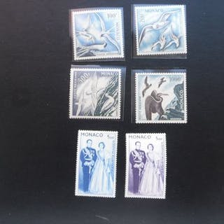 Monaco 1955/1955 - Here is a series of airmail stamps...
