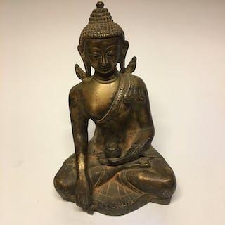 Bronze Skulptur (1) - Bronze alte patina - Buddha...